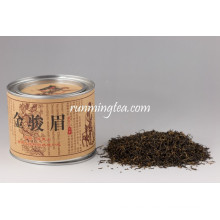 Mingqian Jin Jun Mei (ceja dorada) té negro en latas