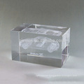 Beautiful 3D laser crystal cube for business gift and decoration