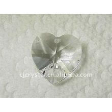 Colgantes de cristal del corazón, granos cristalinos