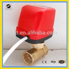 Robinet à tournant sphérique électrique de chauffage de bobine de flux de CWX-50K pour le système de chauffage