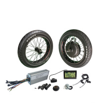 NBpower 48v 2000w fat tire wheel electric bike motor conversion kit with 20X4.0 front wheel