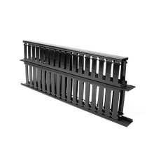 """1u 19 """"plástico Dual-Sided Rack Mount Horizontal Cable Manager"""