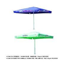Plage de publicité de Polonais en aluminium de 3.5X3.5m ou parapluie de patio (YSBEA0030)