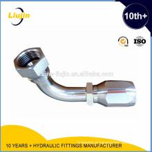 Reutilizável 90 cotovelo jic fêmea 74 graus alargou um pedaço de encaixe hidráulico (26798d-r5)