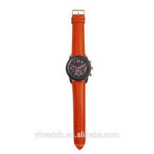 Fashion Style New Quartz Double Time Watch Three Eyes Decoration