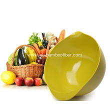 Bamboo fiber fat boody salad bowl