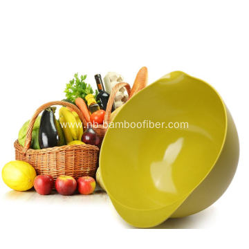 Big bamboo fiber salad bowl