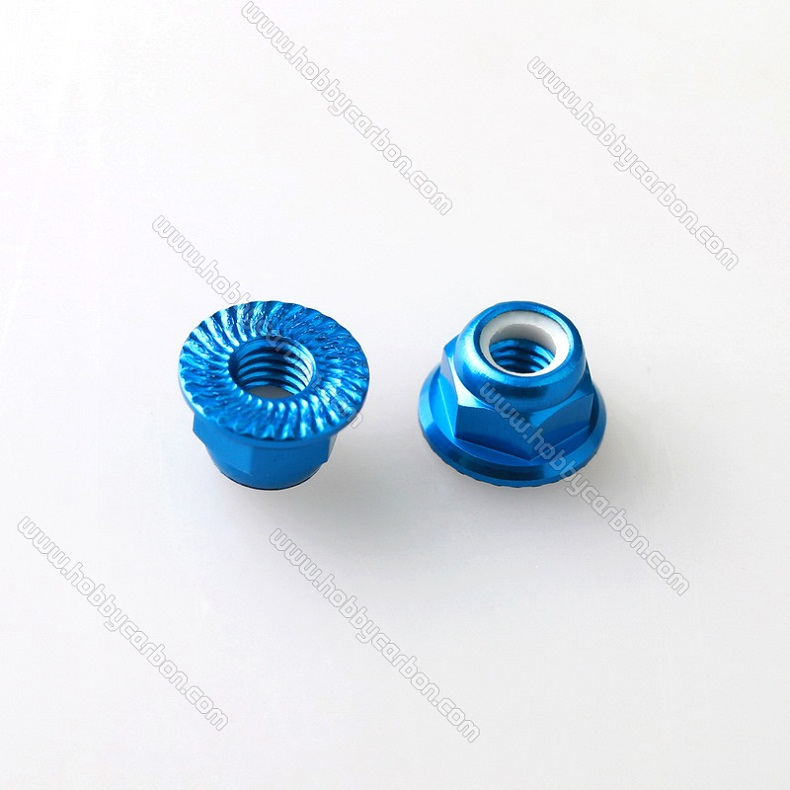 aluminum door nut with flange