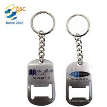 Abridor de garrafa barato chinês do metal do keychain dos cartões de visitas