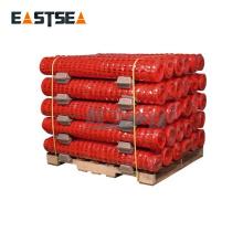 Rollo de red de malla de alambre de plástico de polietileno flexible de seguridad naranja