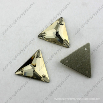 Hot Sale Wholesale Flat Back Triangle Sew on Beads for Garment Accessories