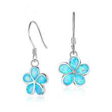 New Fashion Opal Earring Flower Shaped jewelry Opal Stone Earrings for Girl