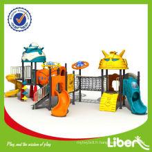 2014 wenzhou usine commerical kids plastique slide équipement de terrain de jeux extérieur LE-JG006