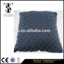 Buena calidad diversos estilos comprobados cojín de lino almohadillas de la almohadilla del tiro con la cremallera Calidad Elección