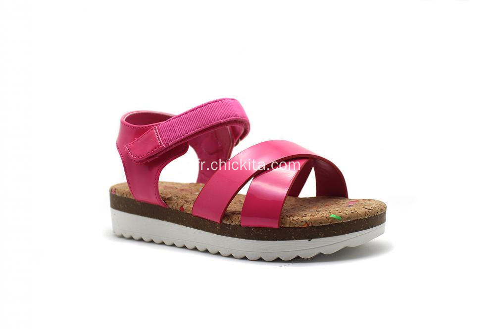 Birkenstocks Strap Sandals Avec Velcro Tape