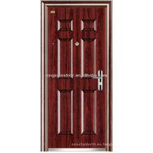 Puerta de seguridad de acero inoxidable, Panel Desgin Puertas de entrada de seguridad exterior