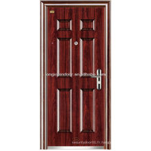 Porte de sécurité en acier inoxydable, portes d'entrée de sécurité extérieures de panneau Desgin