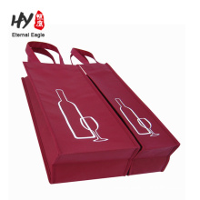 Reusable thick non woven wine bag