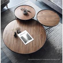 Conjunto de mesa de centro moderno