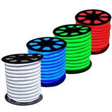 2835 SMD tri-chip RGB Led Neon Flex Com Controle Remoto 110 V 120 V 220 V 230 V LED Neon Corda Lâmpada Tubo IP65 100 M