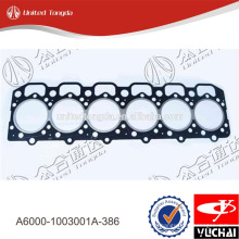 High quality cylinder head gasket A6000-1003001A-386 for YC6A