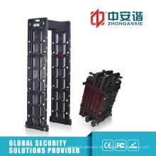 Outdoor-Sicherheit Multi-Alarm Zonen Archway Metalldetektor mit Backup-Batterie