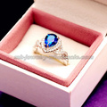 Heart Shape Gemstone Elegant Womens Rings