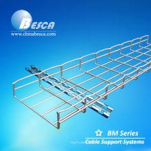 Bandeja de cable galvanizada de la malla de alambre con la suspensión del techo (UL, cUL, CE, NEMA, IEC)