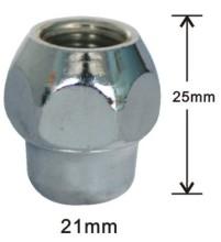 Short wheel nuts 12mmx1.50