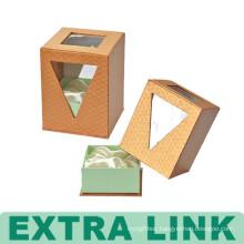 High End Wholesale Custom Logo Fancy Paper Girls' Perfume Gift Packaging Cardboard Clear Plastic Window Box