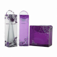 Colorful Plastic Wine Box with Plastic and String Handle, Customized Color and Shape are Welcome