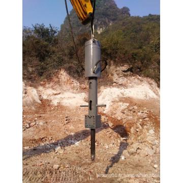 Pelle hydraulique utilisant le diviseur de roche hydraulique