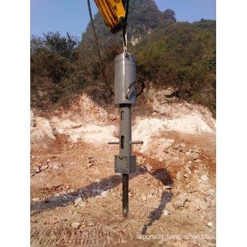 Excavator Using Hydraulic Rock Splitter