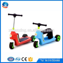 3 Wheels Folding Type One Crank PU Laser Wheels Children Space Scooter For Kids