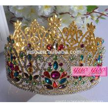 Украшение цветочных украшений европейская мода декоративные металлические короны