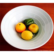 White Imitation Ceramic Melamine Noodle Bowl (CP-026)