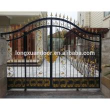 Entrada principal puerta de hierro forjado de acero para casa / villa / apartamento