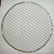 Высокомарочная гальванизированная ячеистая сеть волнистой проволки барбекю барбекю гриль сетка