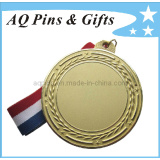 3D Gold Medal with Sandblasting