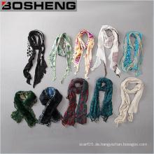 Großhandels-kundenspezifische Art- und Weiseelegante bequeme verschiedene Arten Frauen-langer Schal