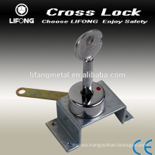 Useful cross key cylinder lock for safe box