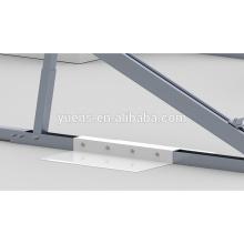 Bâti solaire de panneaux plats de toit plat ballasté de parenthèse de panneau solaire