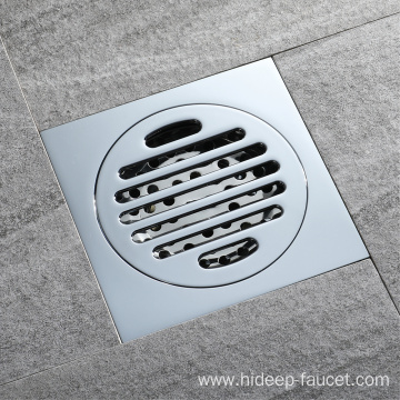 HIDEEP brass square Shower Strainer deodorant floor drain