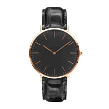 Mens Leather Watch Fashion Casual Wristwatch