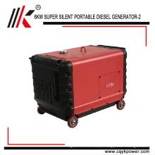 China gerador portátil diesel 7kva com preço, 7 kw gerador diesel para venda, pequeno gerador diesel silencioso 7.5 kva