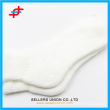 Custom white acrylic women warm tube socks for wholesales