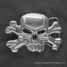 Forma personalizada cráneo Buckel de correa del Metal para la promoción