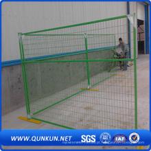 Pó revestido Canadá Temporary Wire Mesh Fence