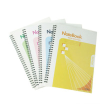 Taille 254 * 177mm PP Cover Spiral Book Hardcover Excerise Nootbook Office Memo Pad