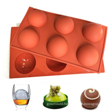wholesale multifunction anti sticking Large 6 Cavities silicone mold for chocolate